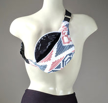 Load image into Gallery viewer, Pink Navy Tribal Print Fanny Pack