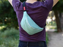 Load image into Gallery viewer, Sunbrella Glacier Blue Fanny Pack