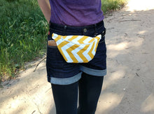 Load image into Gallery viewer, Yellow Chevron Fanny Pack