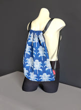 Load image into Gallery viewer, Blue Palm Trees Drawstring Bag