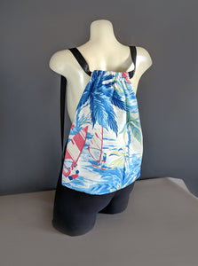 Hawaii Blue Drawstring Bag