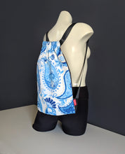 Load image into Gallery viewer, Paisley Blue Drawstring Bag