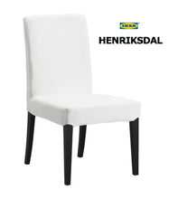 Load image into Gallery viewer, IKEA Henriksdal Dining Chair Cover, Black Faux Cow Hide