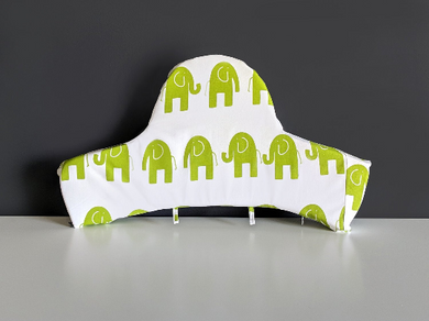 IKEA Highchair Cushion Cover for Klammig, Pyttig, Antilop Green Elephant, SAMPLE