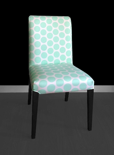 Mint Polka Dot Henriksdal Chair Cover