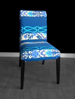 Blue Floral IKEA HENRIKSDAL Dining Chair Cover