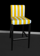 Load image into Gallery viewer, Yellow Stripe IKEA HENRIKSDAL Bar Stool Cover