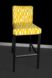 Yellow Summerhouse HENRIKSDAL Bar Stool Chair Cover