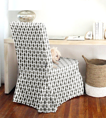 IKEA HENRIKSDAL Chair Cover, Boho Indian Print