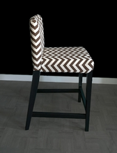 Load image into Gallery viewer, Brown Chevron HENRIKSDAL Bar Stool Chair Cover