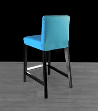 Load image into Gallery viewer, Suede Solid Peacock Teal Blue IKEA HENRIKSDAL Bar Stool Chair Cover