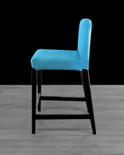 Load image into Gallery viewer, Suede Solid Peacock Teal Blue IKEA HENRIKSDAL Bar Stool Chair Cover, UK/Euro/Australia size