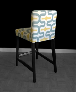 Chunky Yellow Pattern IKEA HENRIKSDAL Bar Stool Chair Covers