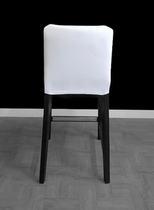 UK/Euro/Australia Size SUNBRELLA IKEA Bar Stool Chair Covers, Outdoor Solid White