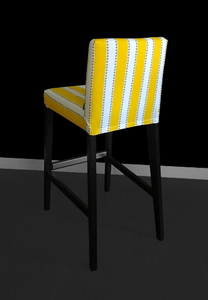 Yellow Stripe IKEA HENRIKSDAL Bar Stool Cover