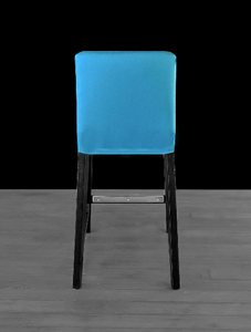 Suede Solid Peacock Teal Blue IKEA HENRIKSDAL Bar Stool Chair Cover, UK/Euro/Australia size
