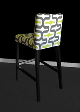 Load image into Gallery viewer, Brown Green Patterned IKEA HENRIKSDAL Bar Stool Chair Cover