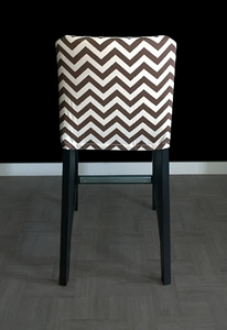 Brown Chevron HENRIKSDAL Bar Stool Chair Cover