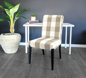 IKEA HENRIKSDAL Dining Chair Cover, Buffalo Check Beige