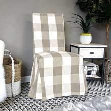 Load image into Gallery viewer, IKEA HENRIKSDAL Dining Chair Cover, Buffalo Check Beige