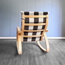 Load image into Gallery viewer, IKEA Poang Farmhouse Black Buffalo Check