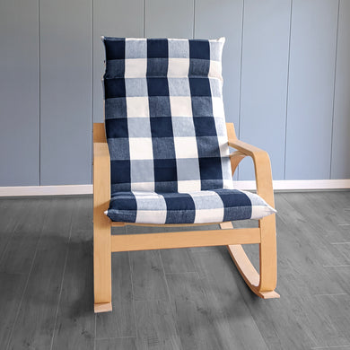 IKEA POÄNG, Buffalo Check Navy Blue