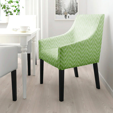 IKEA SAKARIAS Dining Chair Cover, Lime Green Ikat Chevron