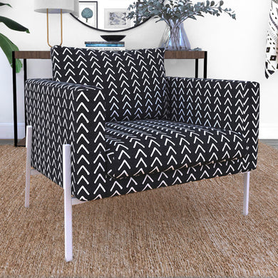 IKEA KOARP Armchair Covers, Arrows Black