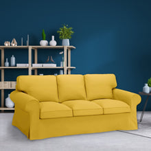 Load image into Gallery viewer, IKEA Ektorp Sofa Slipcover, Velvet Gold