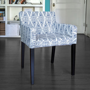 IKEA NILS Boho Indigo Blue Chair Cover