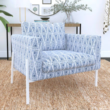 Load image into Gallery viewer, IKEA KOARP Armchair Covers, Boho Indigo Blue Chair Cover