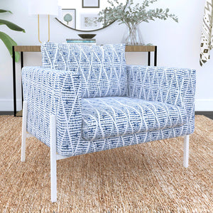 IKEA KOARP Armchair Covers, Boho Indigo Blue Chair Cover