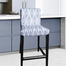 Load image into Gallery viewer, Boho Indigo Blue IKEA HENRIKSDAL Bar Stool Chair Cover