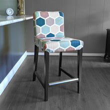 Load image into Gallery viewer, IKEA HENRIKSDAL Barstool Cover, Hexagon Teal, Pink, Jewel Tones