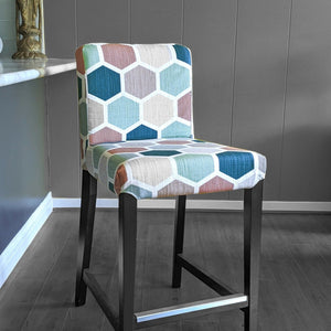 IKEA HENRIKSDAL Barstool Cover, Hexagon Teal, Pink, Jewel Tones