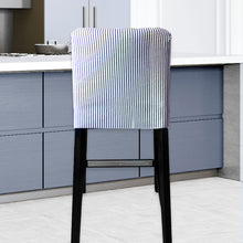 Load image into Gallery viewer, IKEA HENRIKSDAL Bar Stool Chair Cover, Ticking Stripe Navy Blue