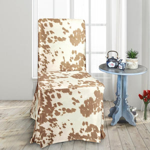 IKEA Henriksdal Dining Chair Cover, Light Brown Palomino Faux Cow Print