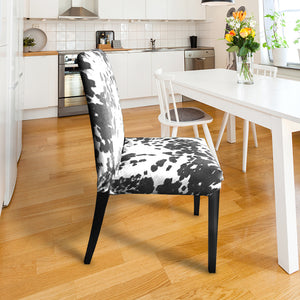 IKEA Henriksdal Dining Chair Cover, Black Faux Cow Hide