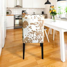 Load image into Gallery viewer, IKEA Henriksdal Dining Chair Cover, Light Brown Palomino Faux Cow Print