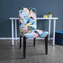 Load image into Gallery viewer, Blush Pink, Teal Jungle Print IKEA HENRIKSDAL Dining Chair Cover