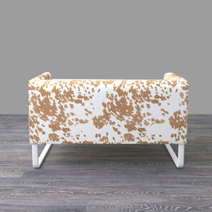 Faux Cow Print IKEA KNOPPARP Sofa Cover, Palomino
