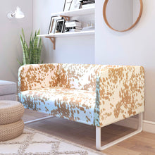 Load image into Gallery viewer, Faux Cow Print IKEA KNOPPARP Sofa Cover, Palomino