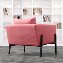 Load image into Gallery viewer, Blush Pink Velvet IKEA KOARP Armchair Cover