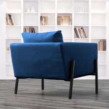 Load image into Gallery viewer, Navy Blue Velvet IKEA KOARP Armchair Cover