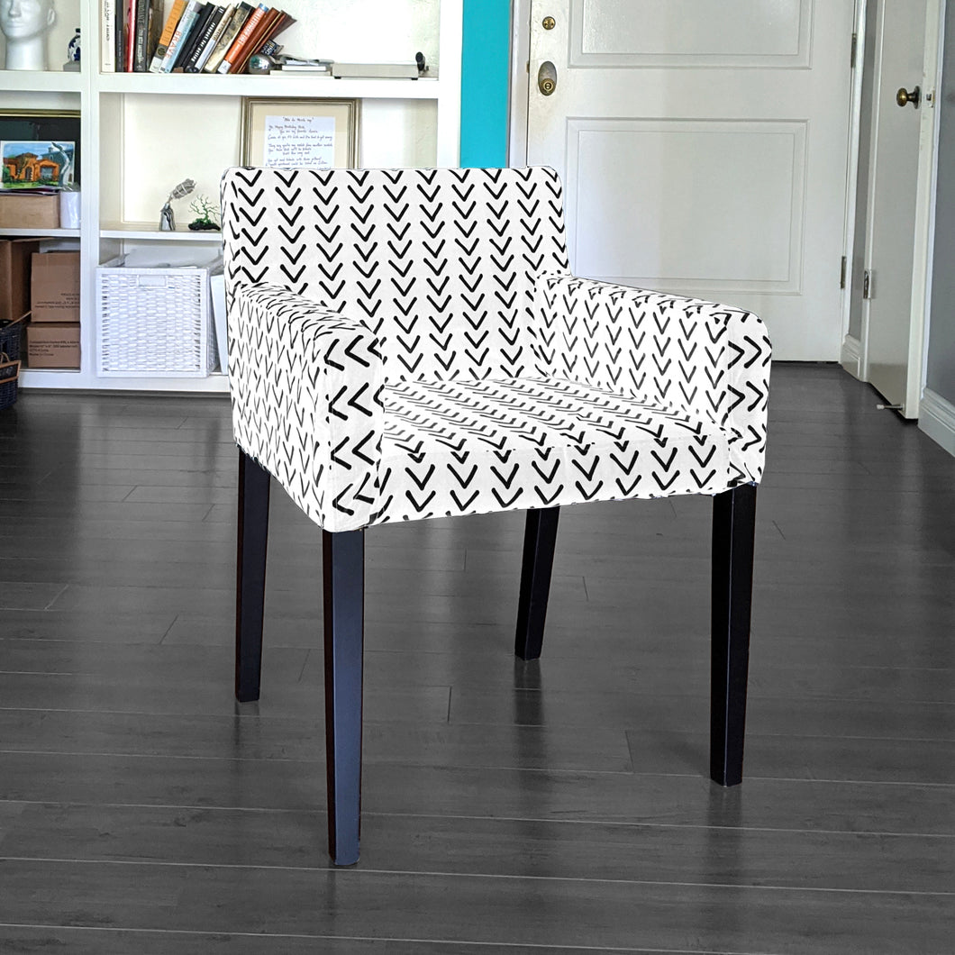 IKEA NILS Mudcloth Arrows White Chair Cover