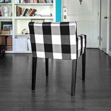 Load image into Gallery viewer, IKEA NILS Buffalo Check Black, Plaid Chair Cover