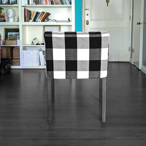 IKEA NILS Buffalo Check Black, Plaid Chair Cover