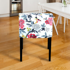 IKEA NILS White Floral Chair Cover