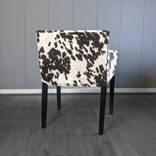 Load image into Gallery viewer, Black Faux Cow Print, IKEA NILS Chair Cover