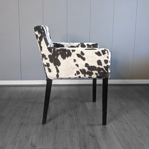 Black Faux Cow Print, IKEA NILS Chair Cover
